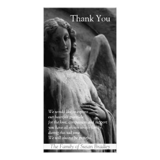 Angel 1 Christian Sympathy Thank You Photo Card