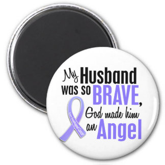 Angel 1 Husband Esophageal Cancer 6 Cm Round Magnet