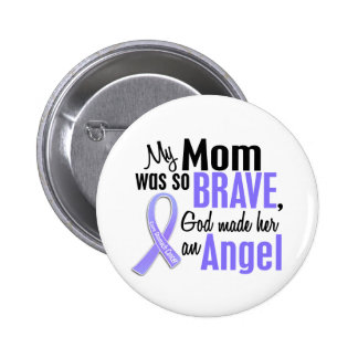 Angel 1 Mom Stomach Cancer 6 Cm Round Badge