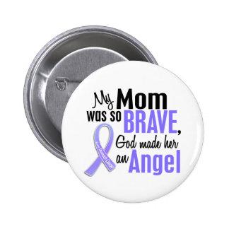 Angel 1 Mom Stomach Cancer 6 Cm Round Badge