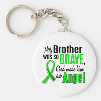 Angel 1 Non-Hodgkins Lymphoma Brother Basic Round Button Key Ring
