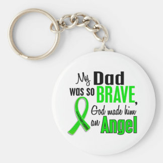 Angel 1 Non-Hodgkin's Lymphoma Dad Basic Round Button Key Ring