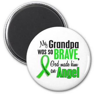 Angel 1 Non-Hodgkin's Lymphoma Grandpa 6 Cm Round Magnet