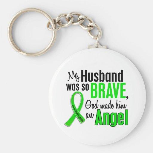 Angel 1 Non-Hodgkin's Lymphoma Husband Key Chain
