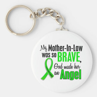 Angel 1 Non-Hodgkins Lymphoma Mother-In-Law Basic Round Button Key Ring
