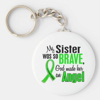 Angel 1 Non-Hodgkin's Lymphoma Sister Basic Round Button Key Ring