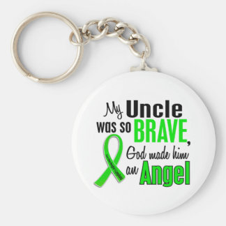 Angel 1 Non-Hodgkin's Lymphoma Uncle Basic Round Button Key Ring