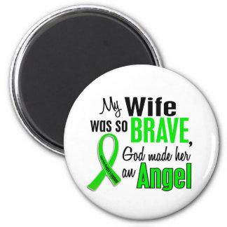 Angel 1 Non-Hodgkin's Lymphoma Wife 6 Cm Round Magnet