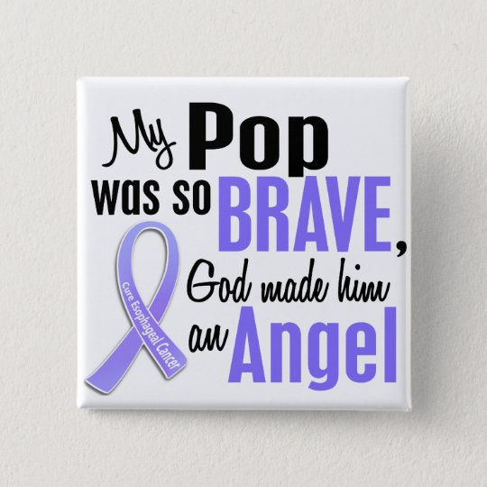 Angel 1 Pop Oesophageal Cancer 15 Cm Square Badge