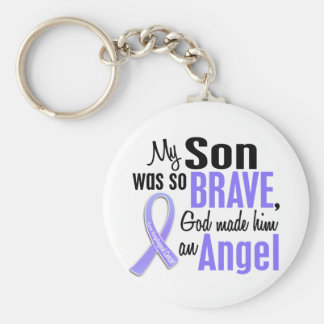 Angel 1 Son Esophageal Cancer Basic Round Button Key Ring