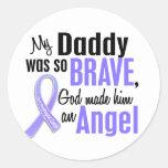 Angel 1Daddy Oesophageal Cancer Round Sticker