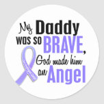 Angel 1Daddy Oesophageal Cancer Round Stickers