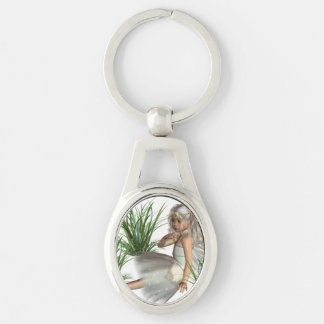 angel-25.png Silver-Colored oval key ring