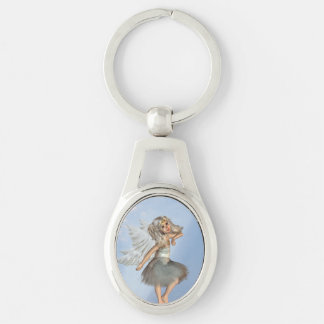 angel-26.png Silver-Colored oval key ring