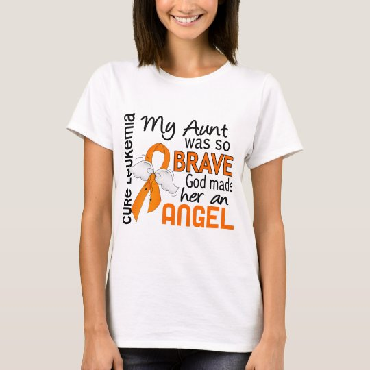 Angel 2 Aunt Leukaemia T-Shirt