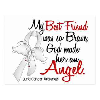 Angel 2 Best Friend Lung Cancer Postcard