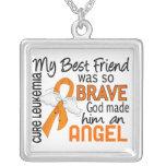 Angel 2 Best Friend (Male) Leukaemia Necklace
