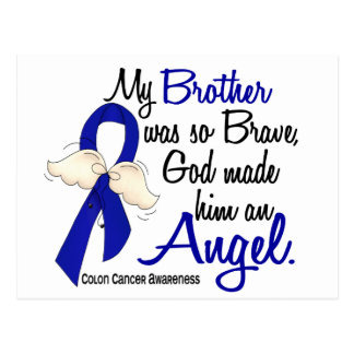 Angel 2 Brother Colon Cancer Postcard