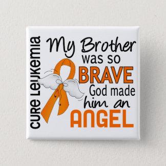 Angel 2 Brother Leukemia 15 Cm Square Badge