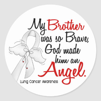 Angel 2 Brother Lung Cancer Sticker