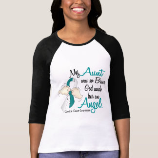 Angel 2 Cervical Cancer Aunt Tee Shirts