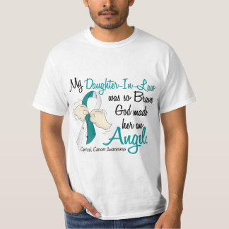 Angel 2 Cervical Cancer Daughter-In-Law Shirts