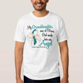 Angel 2 Cervical Cancer Granddaughter Tshirts