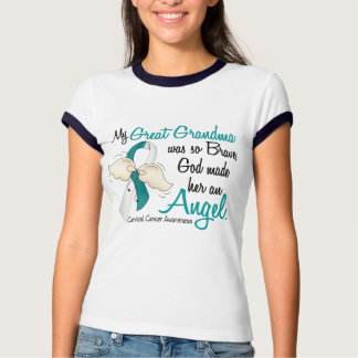 Angel 2 Cervical Cancer Great Grandma T-shirt