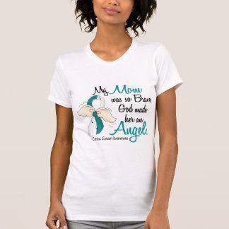 Angel 2 Cervical Cancer Mom Shirts