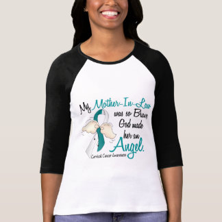 Angel 2 Cervical Cancer Mother-In-Law T-Shirt