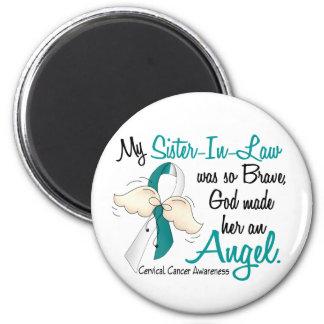 Angel 2 Cervical Cancer Sister-In-Law Magnet