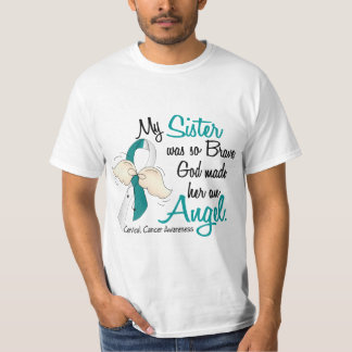 Angel 2 Cervical Cancer Sister Tee Shirt