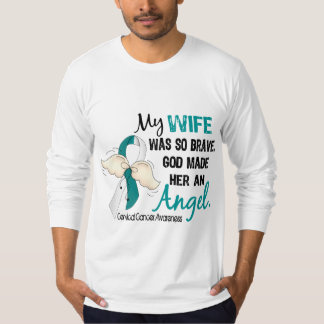 Angel 2 Cervical Cancer Wife Shirts