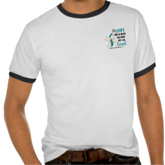 Angel 2 Cervical Cancer Wife Tee Shirts