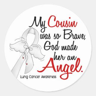 Angel 2 Cousin (Female) Lung Cancer Round Sticker