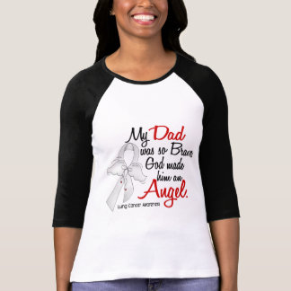 Angel 2 Dad Lung Cancer T-Shirt