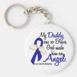 Angel 2 Daddy Colon Cancer Basic Round Button Key Ring