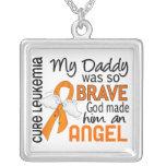 Angel 2 Daddy Leukaemia Necklaces