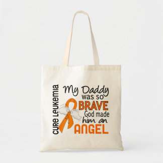 Angel 2 Daddy Leukemia Budget Tote Bag