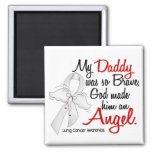 Angel 2 Daddy Lung Cancer Square Magnet