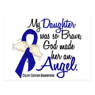 Angel 2 Daughter Colon Cancer Postcard