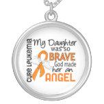 Angel 2 Daughter Leukaemia Personalised Necklace