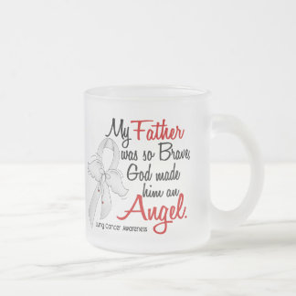 Angel 2 Father Lung Cancer Coffee Mugs