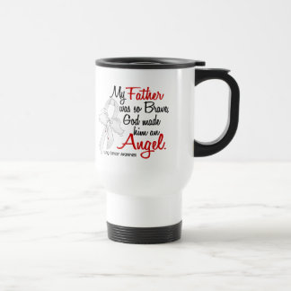 Angel 2 Father Lung Cancer Mugs