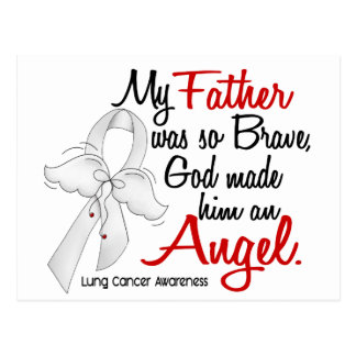 Angel 2 Father Lung Cancer Postcard