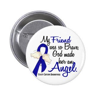 Angel 2 Friend Colon Cancer Button