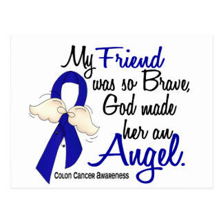 Angel 2 Friend Colon Cancer Postcard