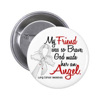 Angel 2 Friend Lung Cancer 6 Cm Round Badge