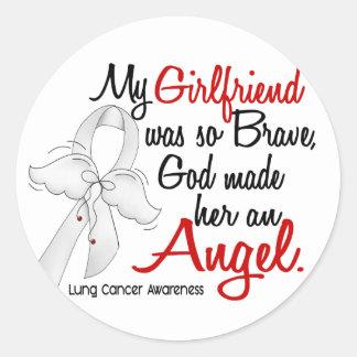 Angel 2 Girlfriend Lung Cancer Classic Round Sticker