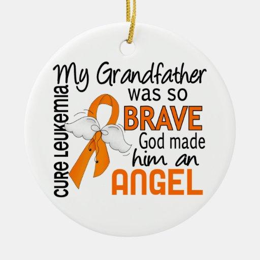 Angel 2 Grandfather Leukemia Christmas Ornament